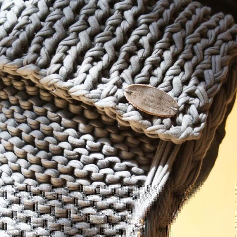 Handtasche aus Textilo Stripes Textilgarn