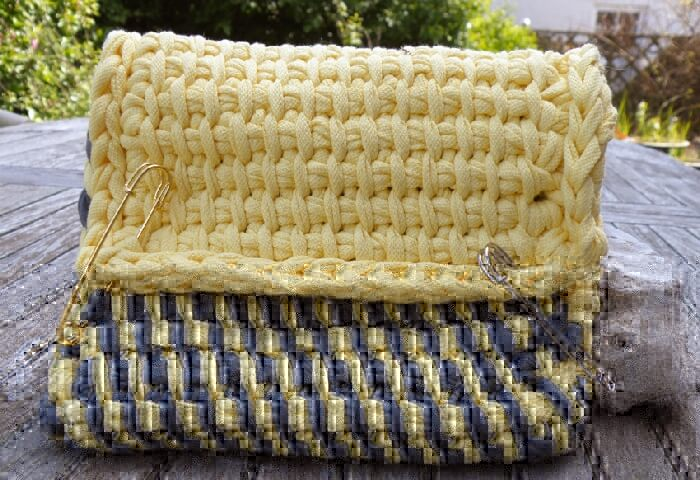 textilo stripes tunesisch h keln mit textilgarn. Black Bedroom Furniture Sets. Home Design Ideas