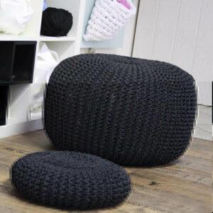 Sitzpouf aus Textilgarn
