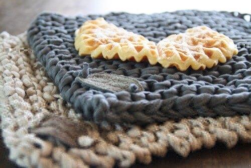 Hier fehlt schon etwas von der waffel - aber es geht ja auch um`s Textilgarn