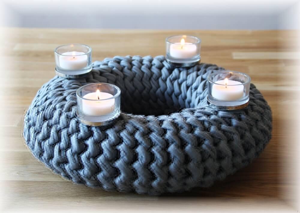 adventskranz geh kelt im grubaro style textilgarn. Black Bedroom Furniture Sets. Home Design Ideas