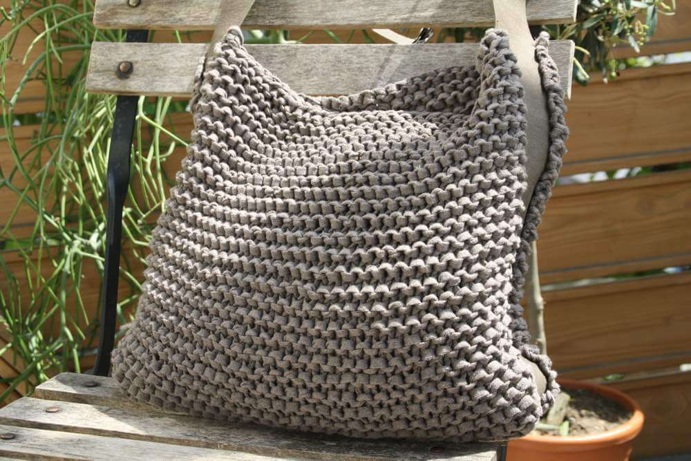 "Gestrickter Shopper ""Mud"""
