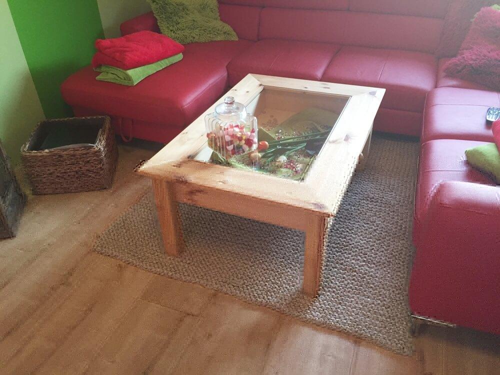 Strickteppich fürs Wohnzimmer