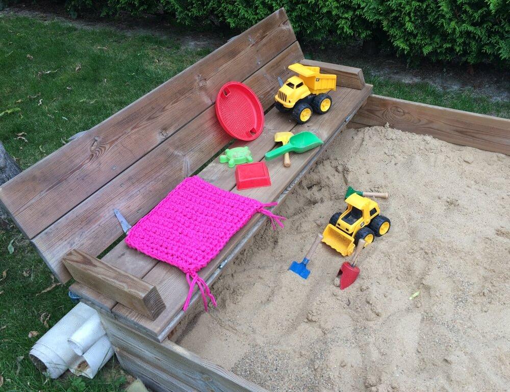 Sitzkissen für den Sandkasten