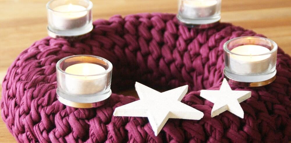 weihnachtsdeko textilo blog h keln stricken. Black Bedroom Furniture Sets. Home Design Ideas